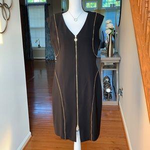 Black Dress/Gold Zippers